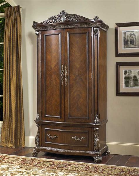 Bedroom Tv Armoire Furniture Armoire For Clothing Or Tv W Doors Six Drawers