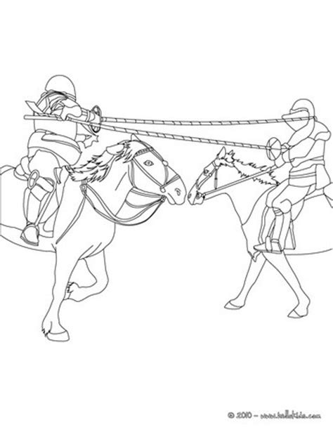 coloring pages knights jousting knights jousting on horseback coloring pages hellokids com