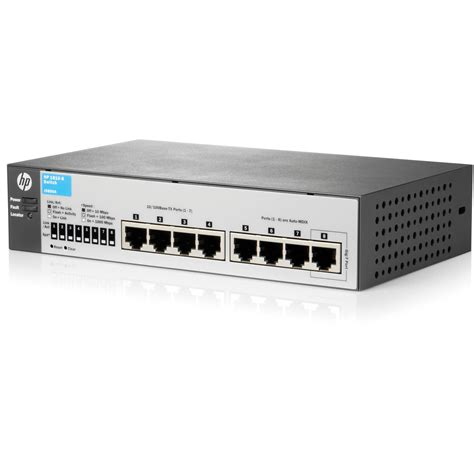 Switch Hub 8 Port Hp hp 1810 8 port layer 2 switch j9800as aba b h photo