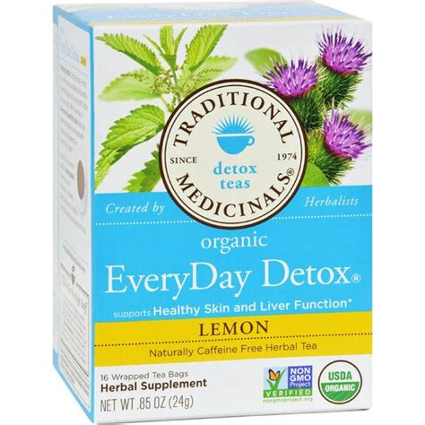 Traditional Medicinals Detox Tea Lemon by Traditional Medicinals Lemon Everyday Detox Herbal Tea