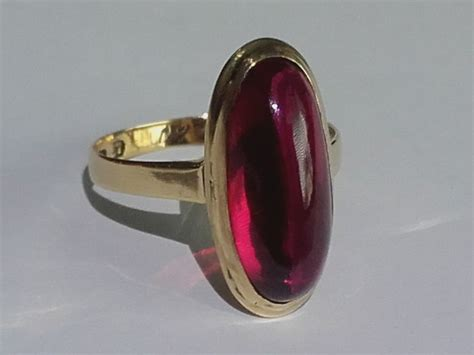 Ruby 8 5ct beatiful 14k gold ring with a 8 5ct ruby size 17 50mm 3