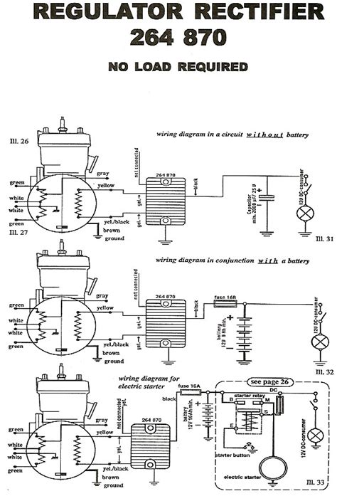 rotax rectifier wiring diagram for 264 780 regulator