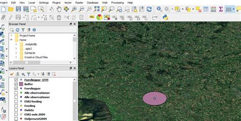 qgis tutorial buffer qgis buffer with fixed distance create oval not