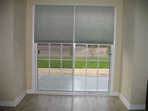 Glass Door Shades by Sliding Doors With Cell Shades