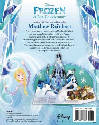 frozen a pop up adventure frozen a pop up adventure by matthew reinhart hardcover barnes noble 174