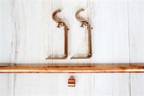 copper curtain rod brackets copper pipe hanging planter cute easy a beautiful mess