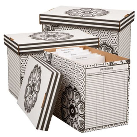 sewing pattern storage boxes set of 3 floral pattern storage boxes organizers supplies