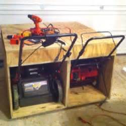 Garage Organization Lawn Mower When The Hoa Won T Allow A Shed You Build The Dual