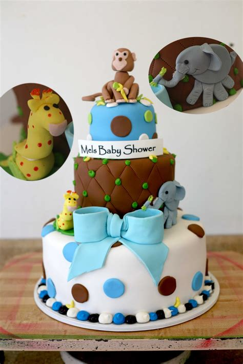 Safari Cakes Baby Shower by Hector S Custom Cakes Baby Shower 3d Safari Animals Custom