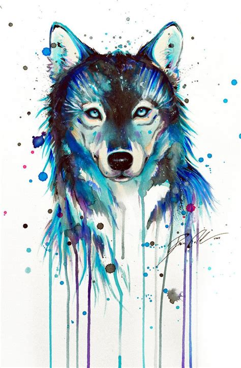 watercolor tattoos wolf best 25 watercolor wolf ideas on watercolor