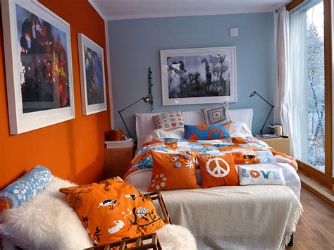 orange and blue bedroom bedroom in orange white blue and snow outside flickr
