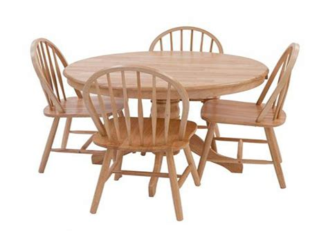 Round Kitchen Table And Chairs Sets Antique Round Oak Circular Oak Dining Table And Chairs