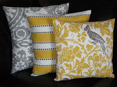 Grey And Yellow Decorative Pillows by With A Slight Overcast Decorating With Yellow And