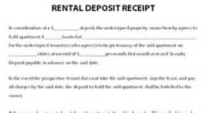 Bond Receipt Template Car Deposit Receipt Template