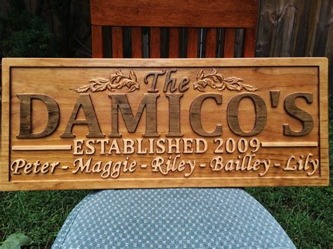 Handmade Wooden Signs Personalized - personalized family last name sign wedding gift