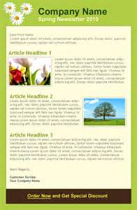 Free April Newsletter Template by Scenery Pictures Newsletter Quotes