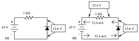 calculate dc voltage drop across resistor zener diodes diodes and rectifiers electronics textbook