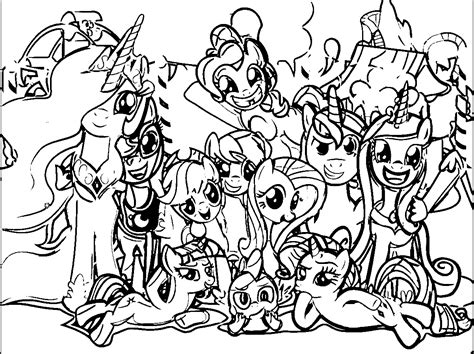 my pony pictures to color my pony coloring pages with all ponies coloring home