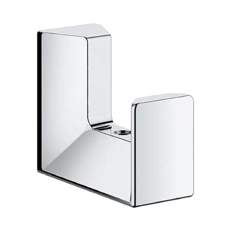 Home Depot Bathroom Flooring Ideas Grohe Selection Cube Wall Mount Robe Hook In Starlight