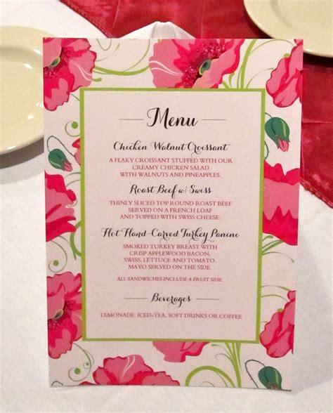great bridal shower menu bridal shower menu card modhousewife s event planning