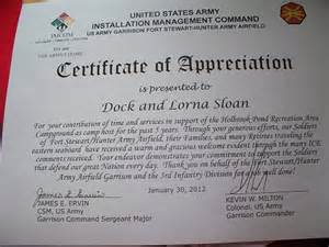 army certificate of appreciation template army certificate of appreciation template