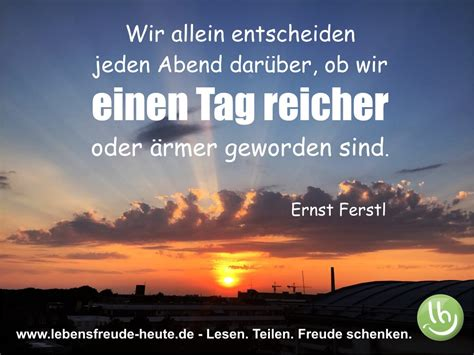 Bilder Lebensfreude by Gl 252 Ck Zitat Ernst Ferstl Www Lebensfreude Heute De
