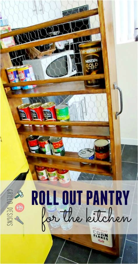 roll out pantry diy roll out kitchen pantry grillo designs