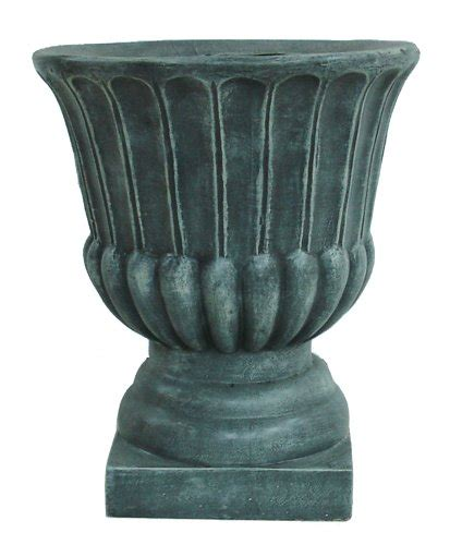 barcana antique grey stone urn pot christmas tree stand