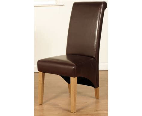 Faux Leather Dining Chairs Uk Nico Brown Faux Leather Dining Chairs