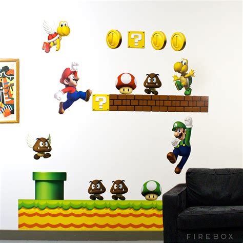 mario stickers for walls blik new mario wall decals buy at firebox