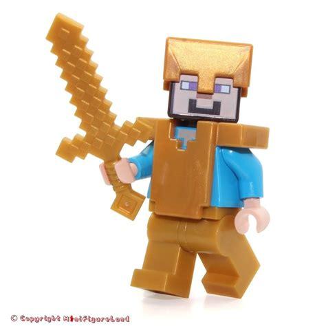 Minecraft Lego Minifigure Steve lego minecraft minifigure steve w pearl gold helmet
