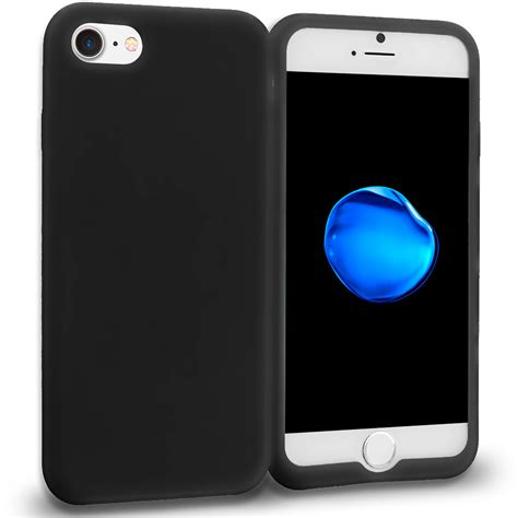 Iphone 7 Silicon Black black silicone skin cover for apple iphone 7