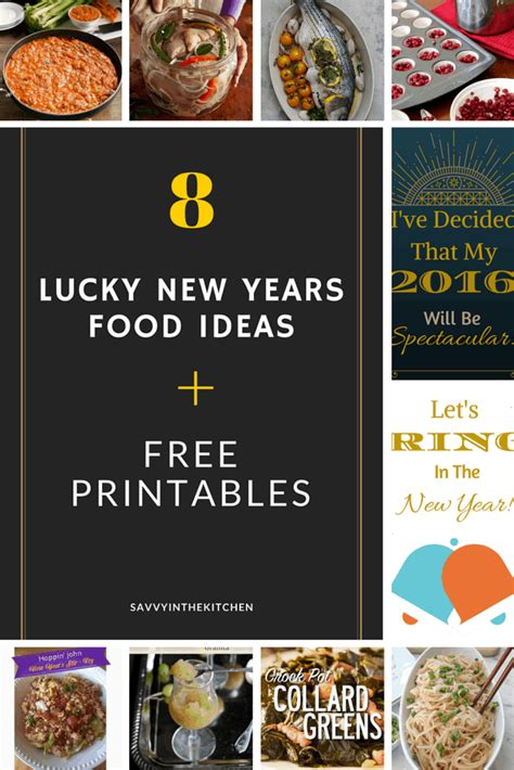 new years day food for luck food 8 lucky new years day food ideas free printables