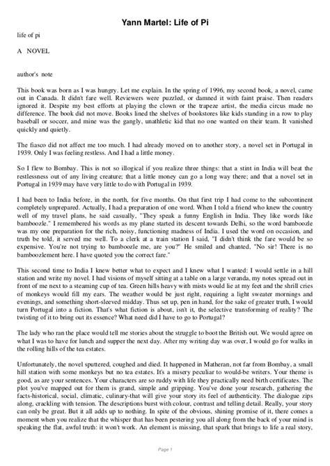 Of Pi Essay Topics by Of Pi Pdf