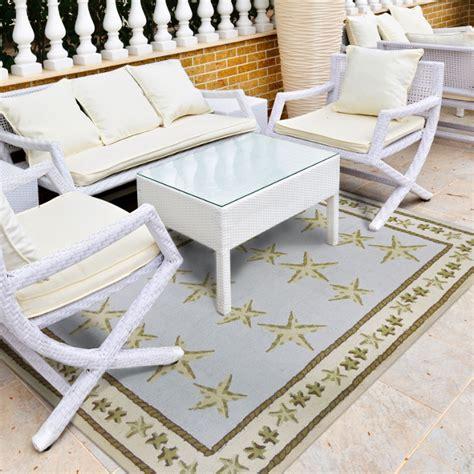 beach rugs home decor starfish toss rug