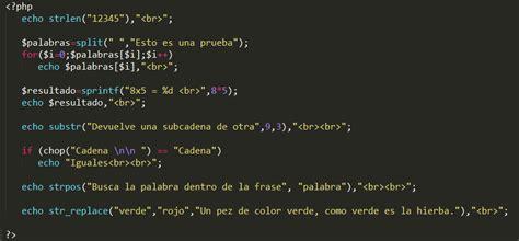 manejo de cadenas con javascript instrucciones en php iii manejo de cadenas forcode