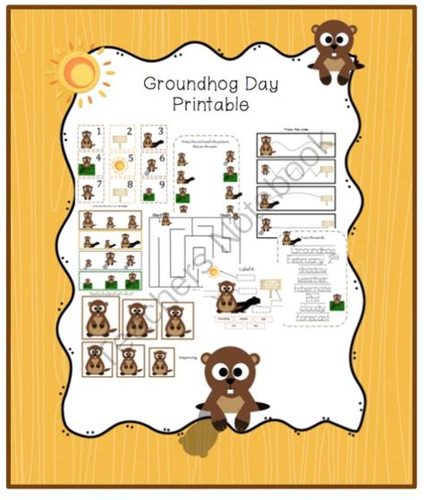 groundhog day age rating groundhog day printable from preschool printables on