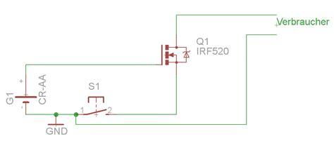 fet transistor funktionsweise mos fet als schalter mikrocontroller net