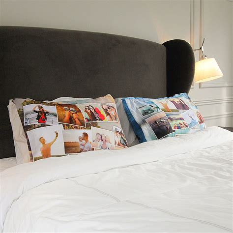 Custom Pillow Cases by Personalized Pillowcases With Photo And Custom Collage