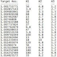 parallel resistor table chris grote parallel resistor table