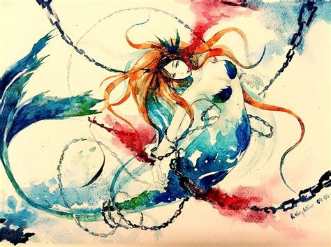 mermaid watercolor tattoo 1000 images about tattoos on