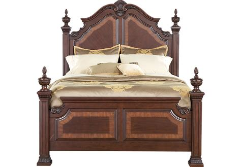 poster bed cortinella cherry 3 pc poster bed beds wood