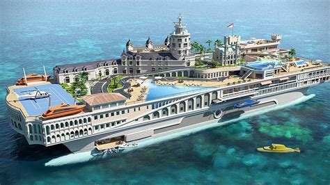 yacht island design this 1 billion superyacht is a floating replica of monaco