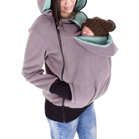 Jaket Hoodie Cewek Jaket Hoodies Outwear Hoodies baby carrier kangaroo jacket fleece hoodie 3 in 1 zip outwear ebay