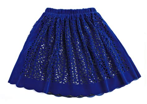 easy matching royal hollow out pleated skirt exquisite