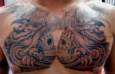 aztec skull tattoos designs 50 aztec tattoos designs on chest
