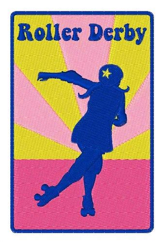 roller derby pattern hopscotch embroidery design roller derby 4 01 inches h x