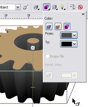 tutorial menggambar tiga dimensi tutorial corel draw membuat desain gear gerigi tiga