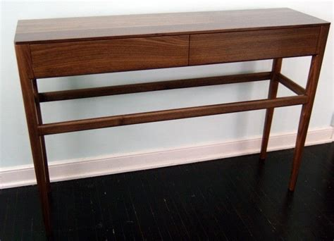solid walnut console table custom mid century modern style console table with