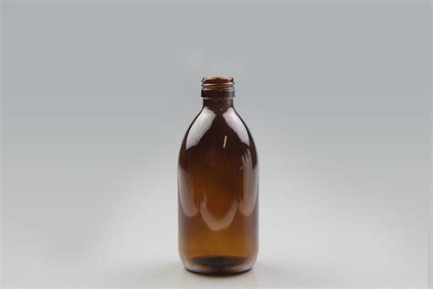 Gelas Sirop glass syrup bottle 300ml with 28ropp neck alpha